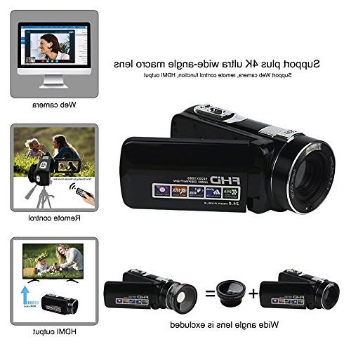 """Video 1080p 18x Digital Zoom 2.7"""" LCD 270° With Remote"""