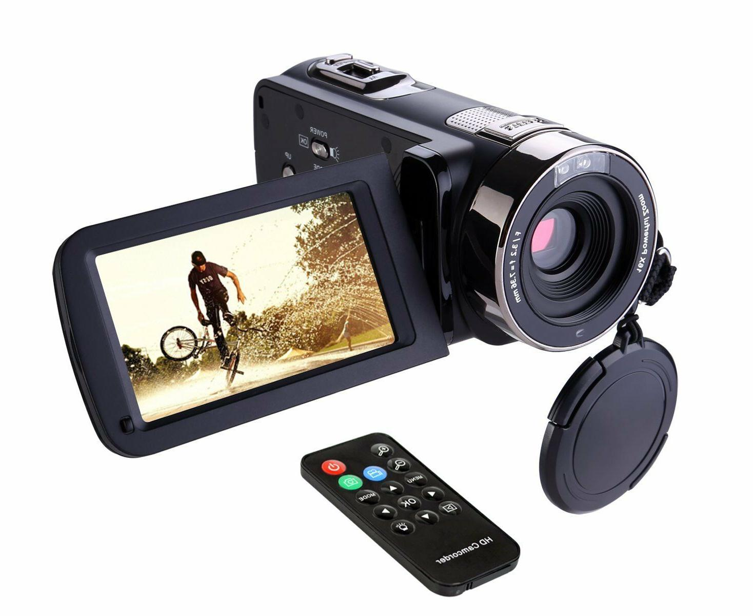 "Camera Camcorder HD 1080P 24MP 16X Digital Zoom 2.7"" LCD 270"