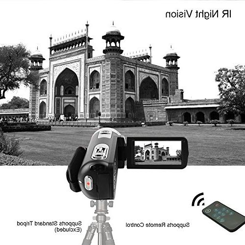 "SEREE camcorder Video Camera Full HD Digital Camera Zoom 3.0"" LCD 270° Rotation Control"