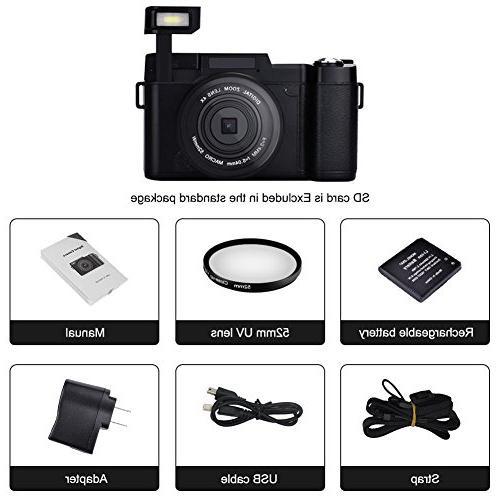 Digital Full 1080P Megapixels 4x Digital Zoom Retractable Flash Inch