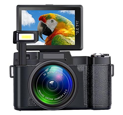 camcorder zoom retractable flash light