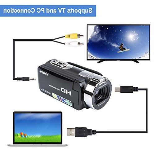 Digital HD 1080P MP 16X Inch LCD Stabilization 270 Camera Lithium