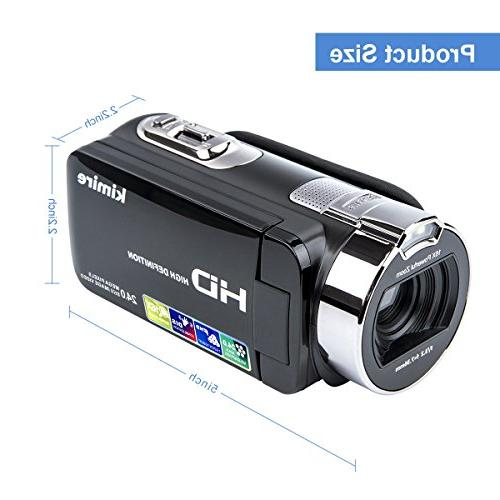 Digital Camera HD MP 16X Powerful Zoom Video Camcorder 2.7 Inch LCD Stabilization 270 Degree Rotation Camera Battery