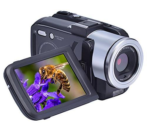 camcorders fhd portable camcorder night