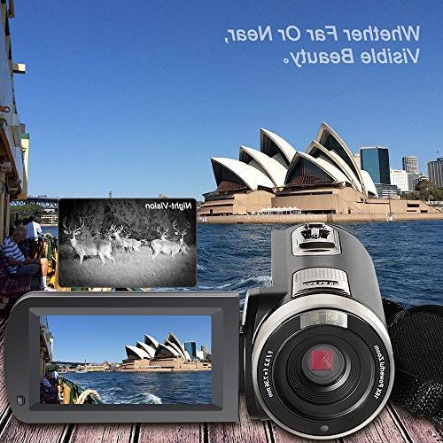 Besteker Camcorder 1080P IR Night Zoom Portable Video