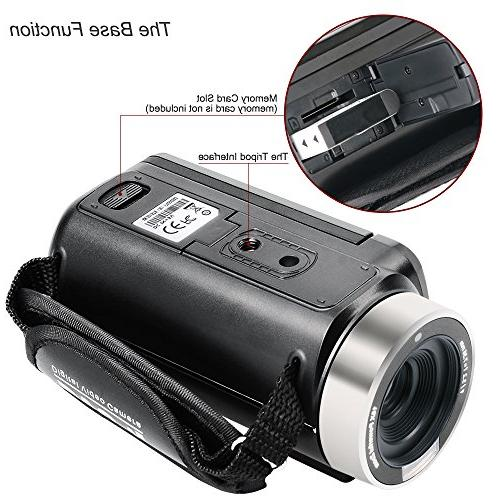 Besteker Camcorder 1080P Night Vision Zoom Remote Portable Digital Video