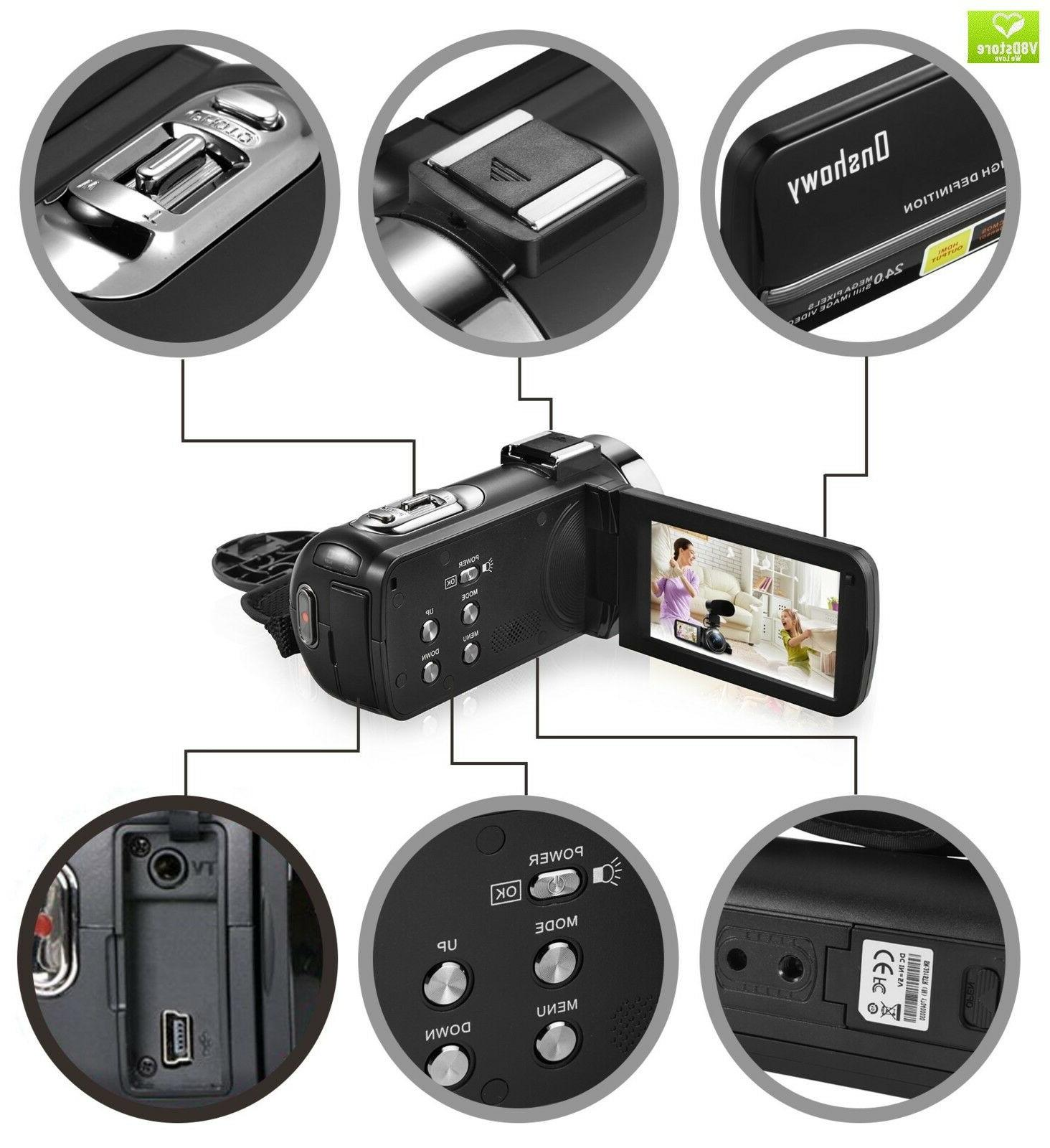 Camera Camcorder,Onshowy Infrared Night Vision Camera HD 10