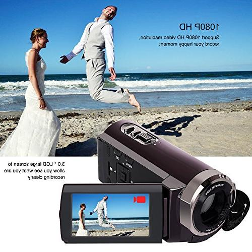 Camorder Full HD Video Recorder Zoom 3 Inch Touch Screen