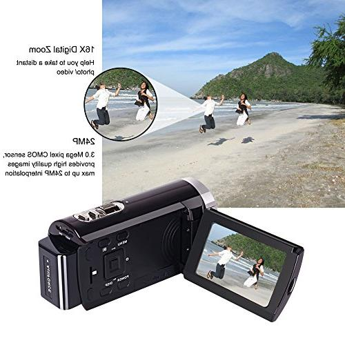 Camorder Camera Full HD Video 20MP Zoom Touch Screen