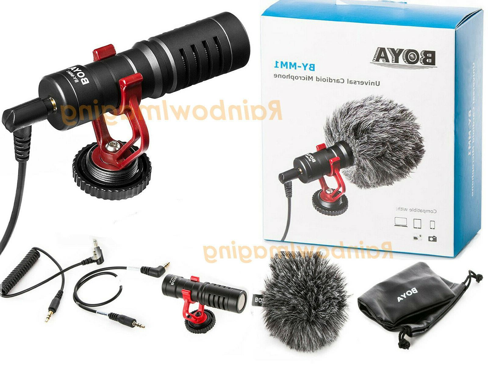BOYA BY-MM1 Cardiod Shotgun Microphone for Samsung Smartphon