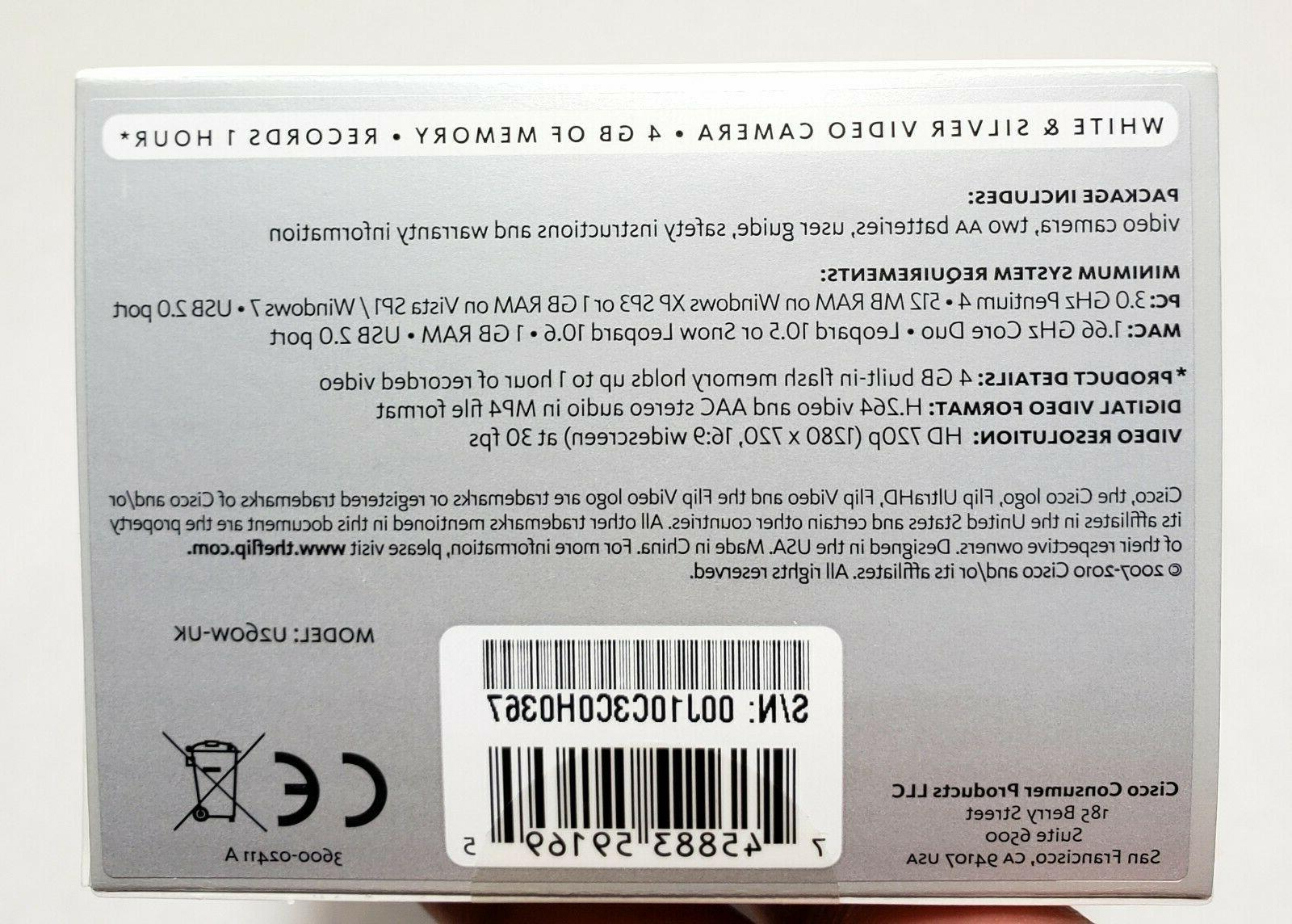 Cisco UltraHD Video Camera Camcorder U260W