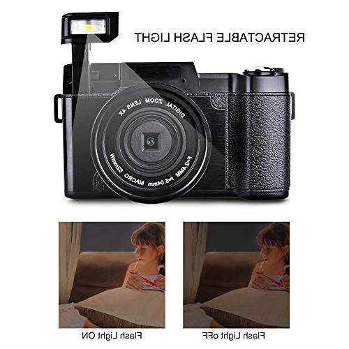 Digital Camcorders Vlogging HD Retractable Flash UV Lens