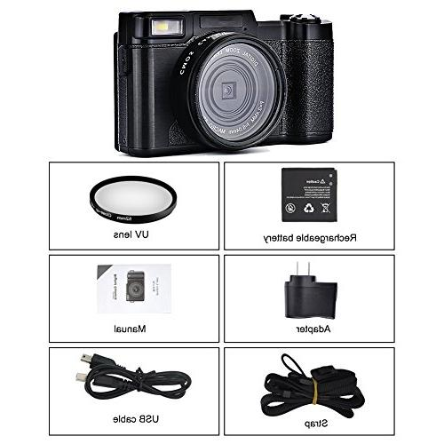 Digital Camera Comcorder Camcorders Vlogging Camera HD 1080p with Retractable Light