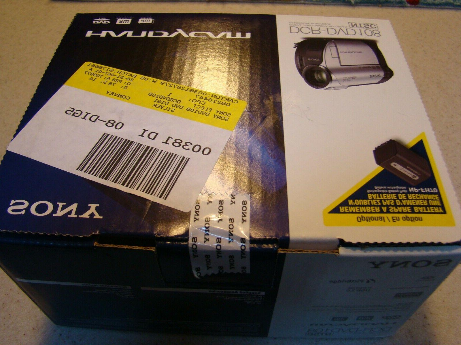 Sony DCR-DVD108 DVD Handycam Camcorder W/ Optical Zoom. BRAND SEALED BOX