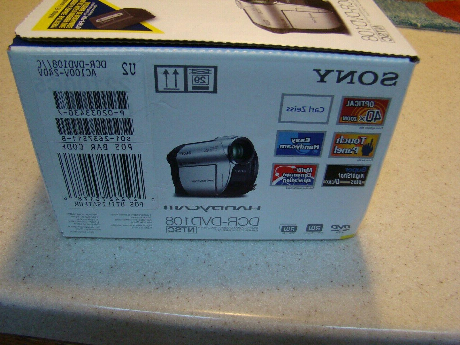 Sony DCR-DVD108 DVD Handycam Camcorder W/ 40x Zoom. BRAND SEALED BOX