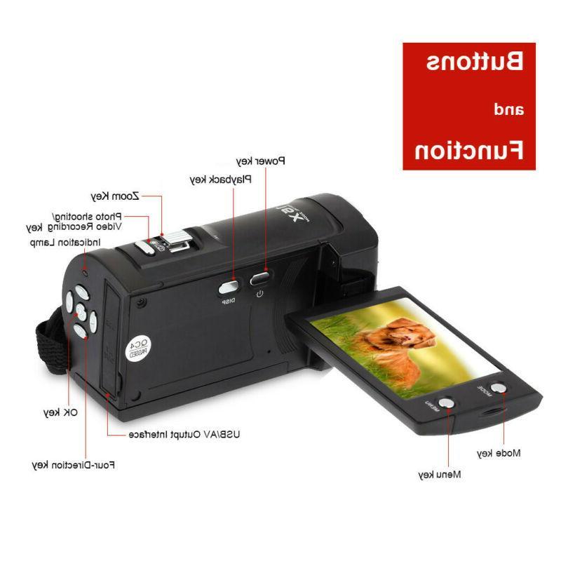 FULL HD 16MP LCD ZOOM Vision Digital Camera