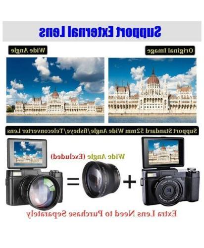 "Digital Camera Vlogging 30MP 2.7K Vlog Camera With Screen 3"""
