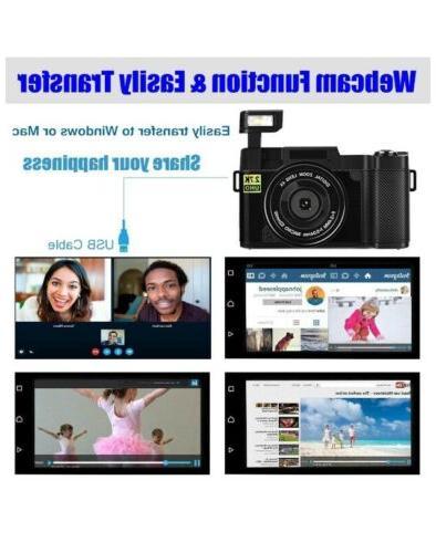 """Digital Camera Vlogging Camera 30MP Full 2.7K Vlog Camera With Screen 3"""""""