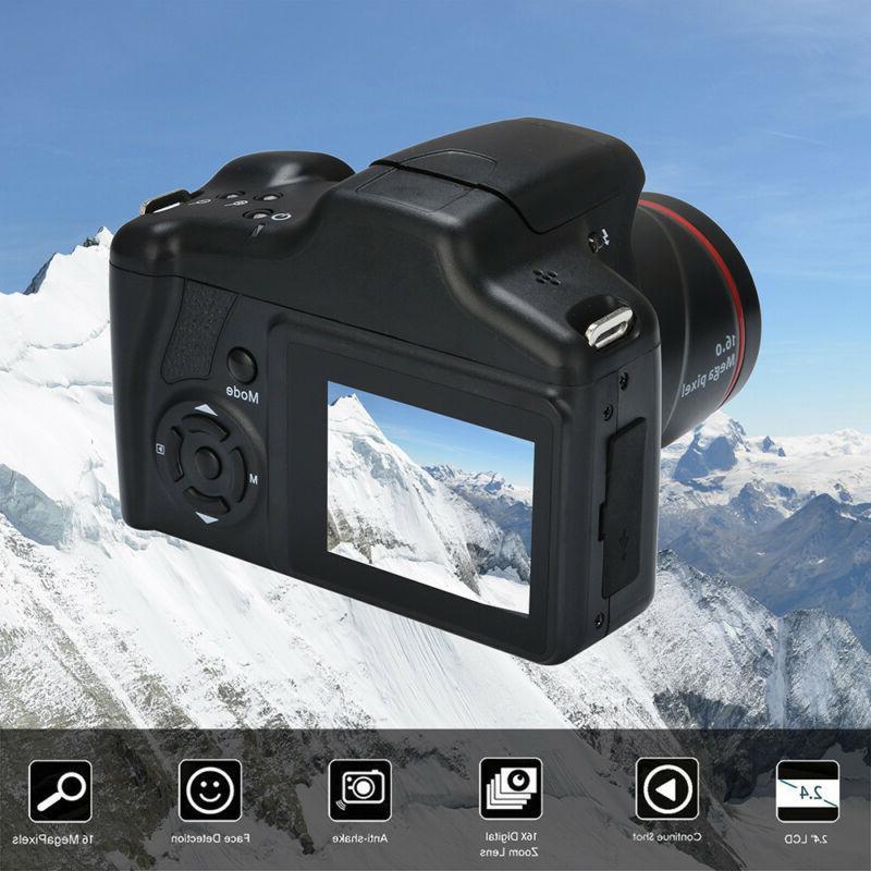 Digital Video Camera HD 1080P 2.4 inch 16 MP Handheld 16X Di