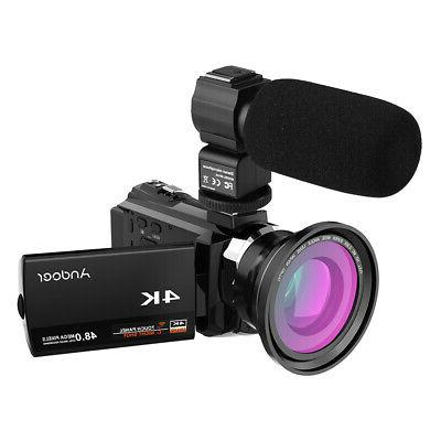 Andoer Camera Camcorder WiFi Ultra HD 16X DV