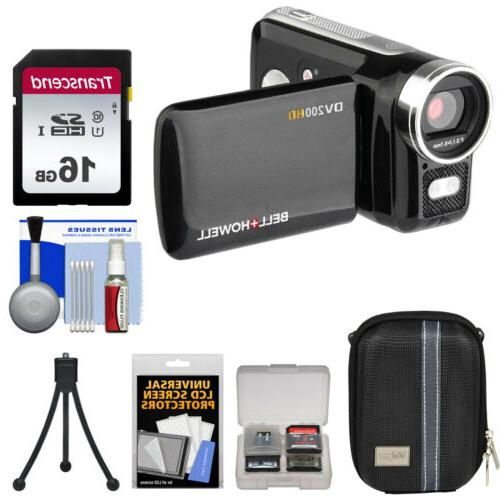 dv200hd hd video camera camcorder with built