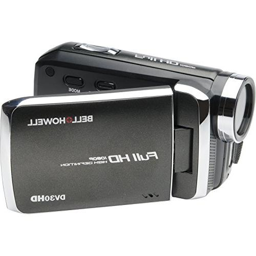 Bell & DV30HD 1080p Camera Camcorder with Card + Battery Case + LED Video Light + with & USA