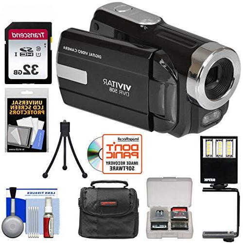 Vivitar DVR-508 HD Digital Video Camera Camcorder + 32GB Car