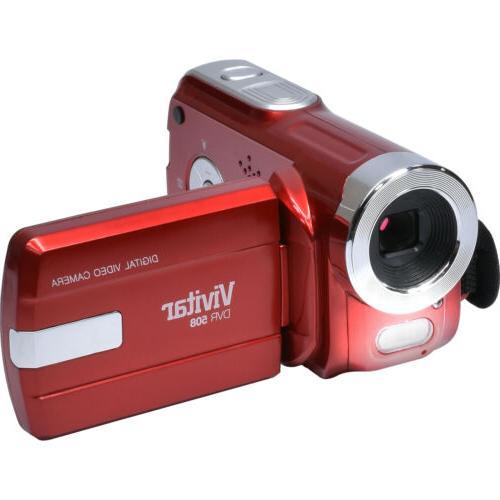 Vivitar DVR-508 Digital Video Camera Red