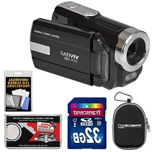 Vivitar DVR-508 Digital Video Camera 32GB Card +