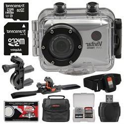 Vivitar DVR786HD 1080p HD Waterproof Action Video Camera Cam