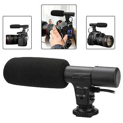 external stereo microphone for dslr camera canon