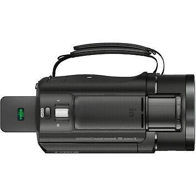 Sony FDR-AX43 4K UHD Handycam Camcorder Kit Video Recording Bundle