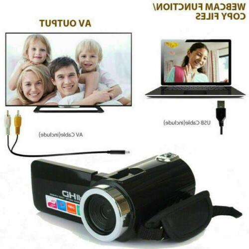 Full 24MP 18X Zoom 3'' Camcorder Video Camera Mic