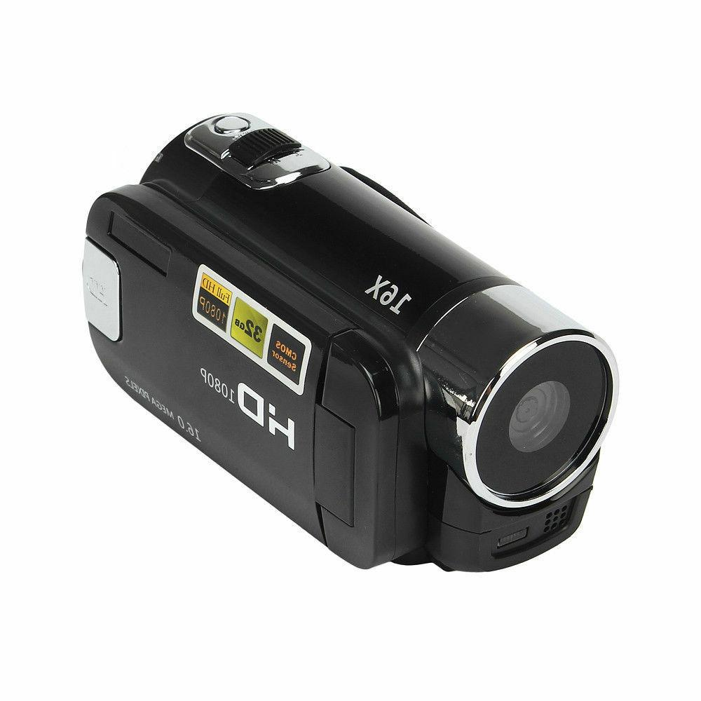 Full HD 1080P Digital Video DV Camcorder 16MP 32GB SD/SDHC