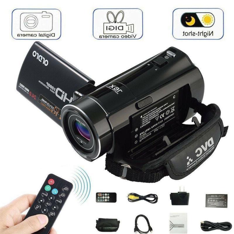 full hd 1080p 24mp 3 lcd 16x