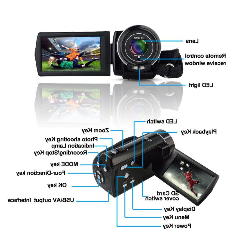 "FULL HD 1080P 24MP 3""LCD 16X ZOOM Vision Video Camera Camcorder"