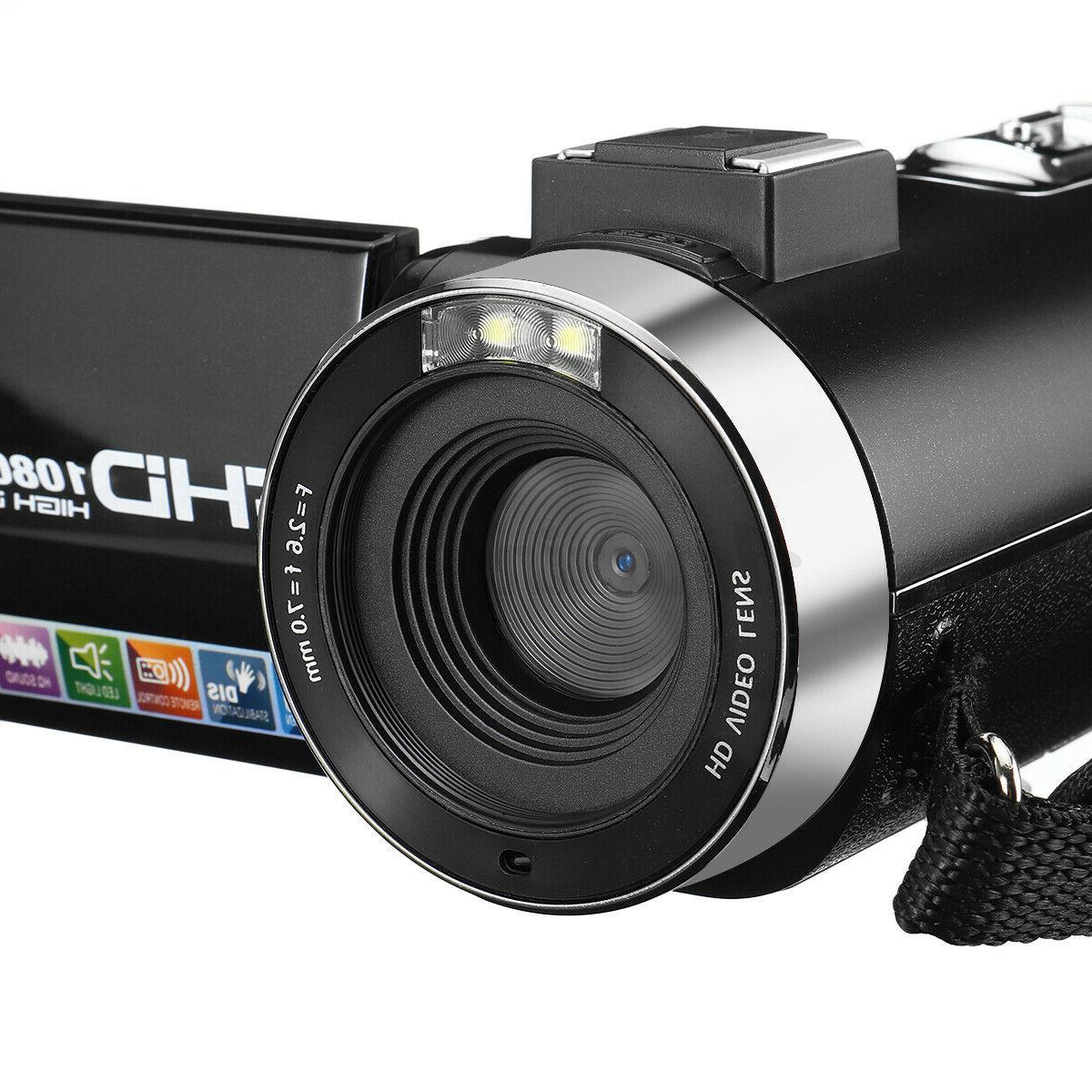 Full 1080P Video Camcorder Camera YouTube Set