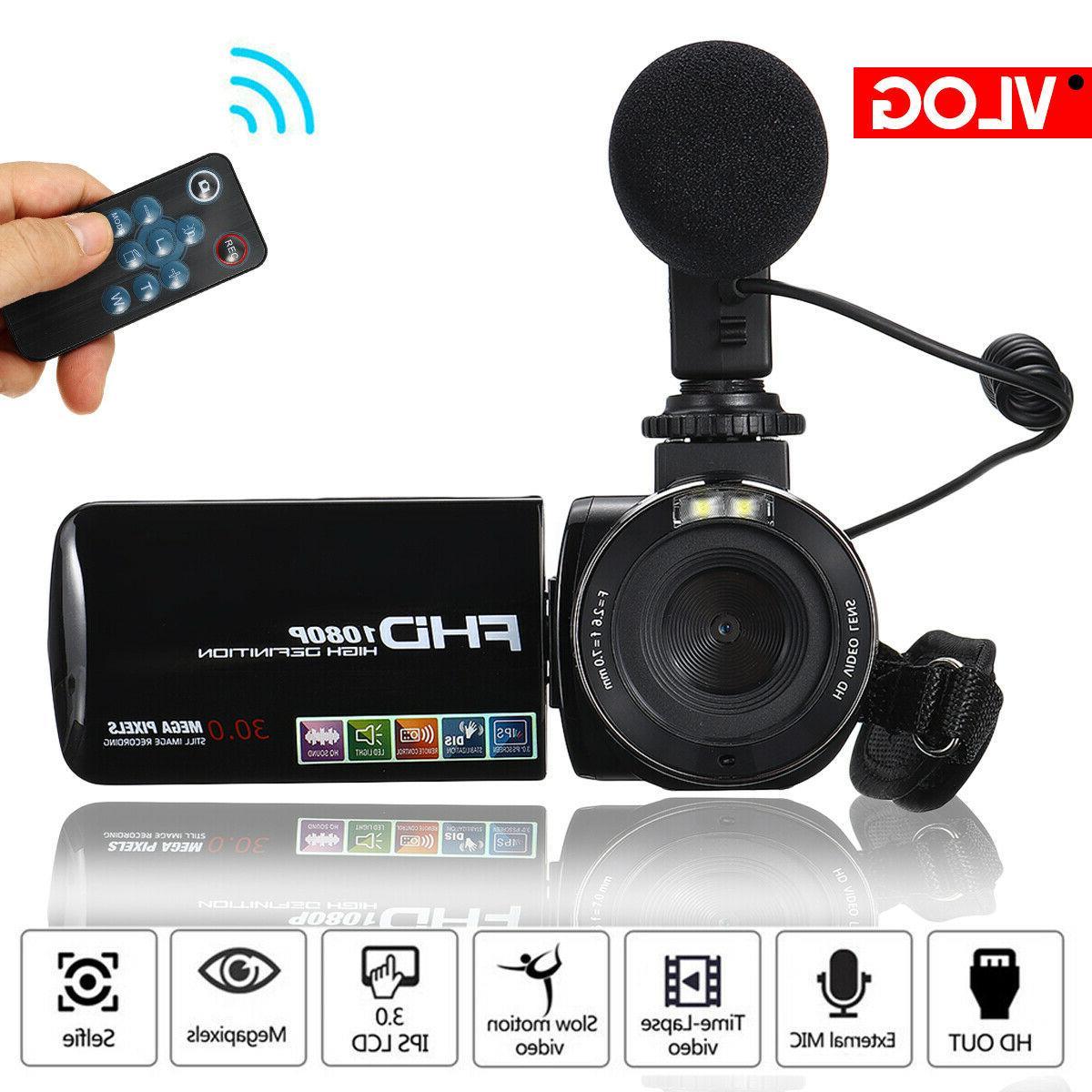 Full HD Video Camera Camcorder Camera YouTube Video