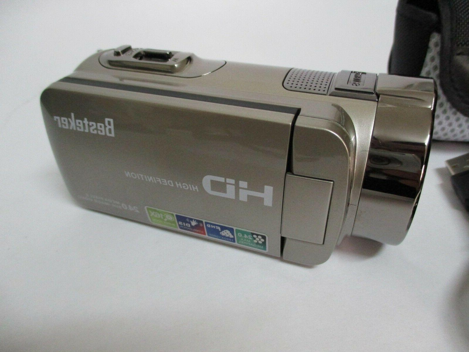 Besteker HD 1280x 720P Video Camcorder ZOOM GOLD