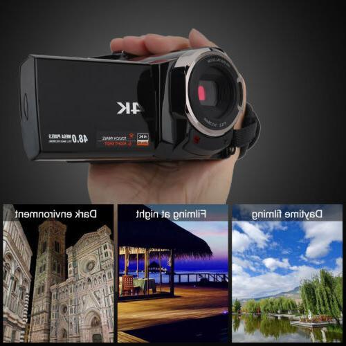 Full 270° Rotation WiFi 16X Digital Camcorder Camera