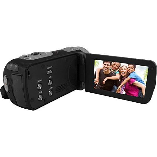 Bell Howell Video Camera Camcorder 32GB Card + Case + LED + Tele/Wide Kit