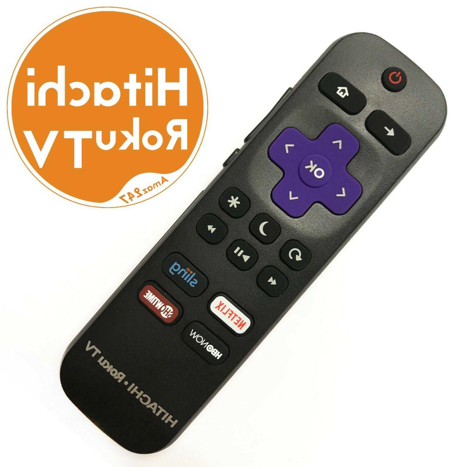 genuine hitachi 101018e0001 roku tv remote w