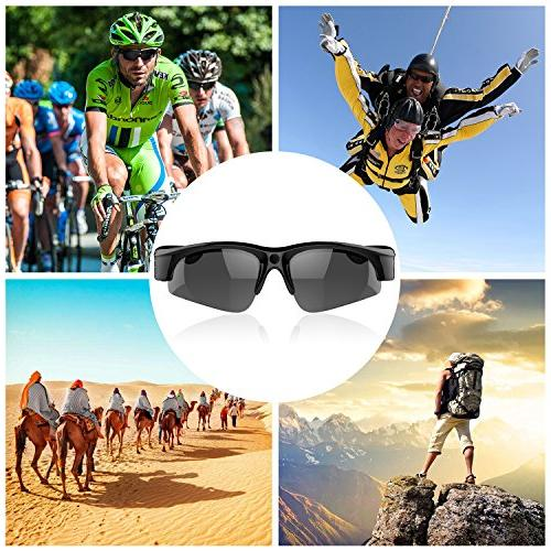 Camera on Glasses 1080P Video View, Frame,Unisex - Sports,Riding,Fishing,Motorcycle