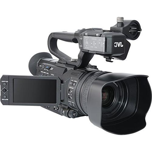 JVC 4K HD 4KCAM Professional Camcorder & Top Handle Audio Unit with Microphone Reader