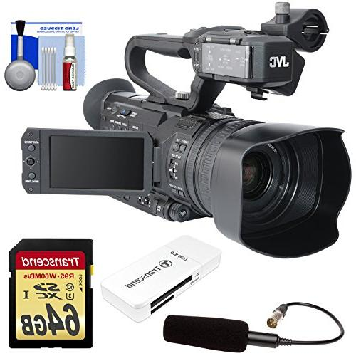 JVC Ultra HD Professional & Top Audio Unit with + 64GB Card Reader +