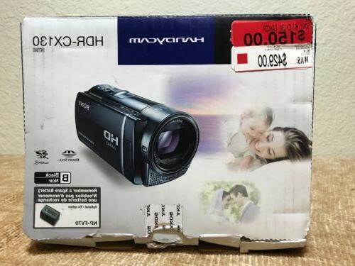handycam hdr cx130 hd camcorder open box