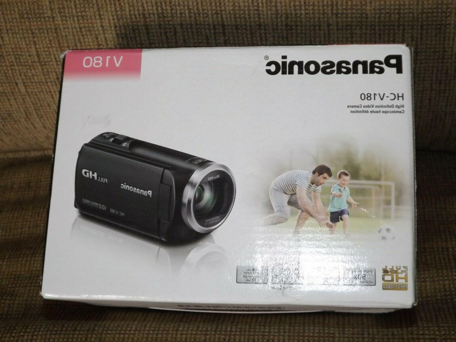 HC-V180 Camcorder Full HD Display Black
