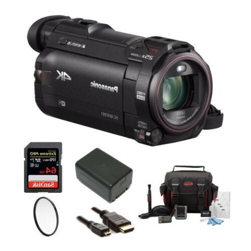 Panasonic HC WXF991K 4K Ultra HD Camcorder with Twin Camera