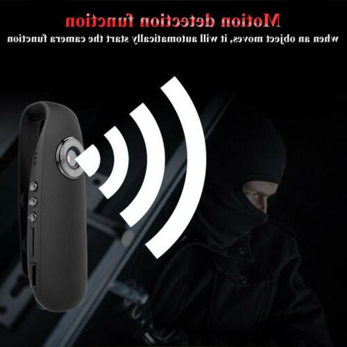 HD 1080P 130° Mini Camcorder Dash Cam Police Body Motion Camera