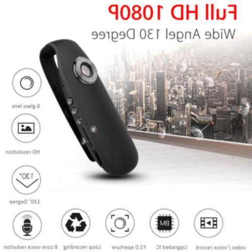 HD 1080P Mini Camcorder Dash Police Body Camera